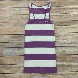 Nike Purple Striped Tank Top